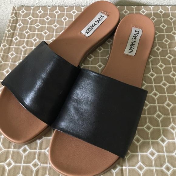 Steve Madden Kailey Slide Sandals Black